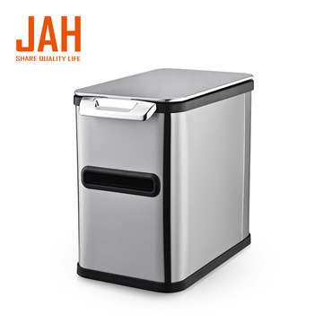 JAH Hand Press Simple Stainless Steel Garbage Bin