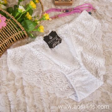wholesale China new style panty white sexy female lace elastic fancy underwear A638
