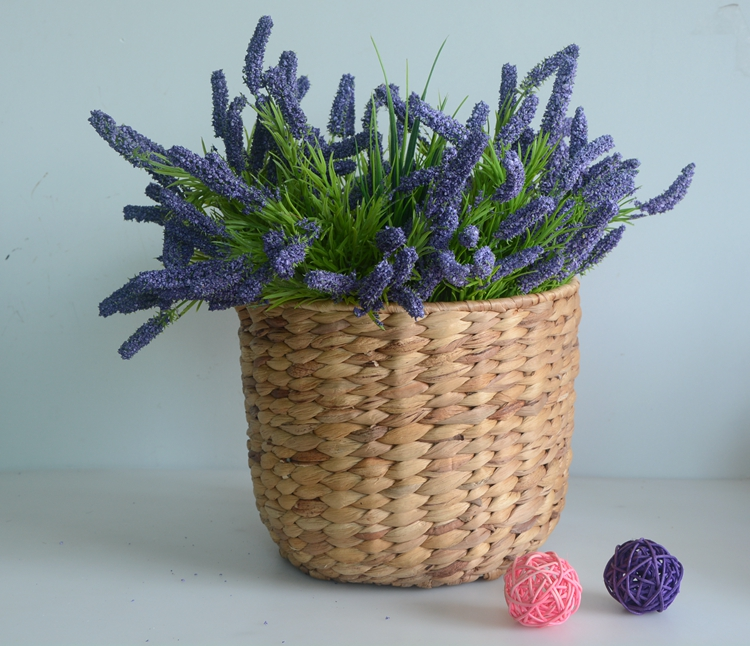Round nature water hyacinth flower pot-2
