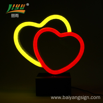 220v christmas 12mm acrylic neon sign battery operated neon indoor led sign