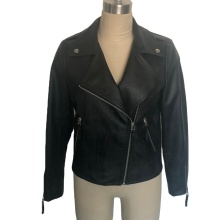 Women Classic Zipper Short Motorcycle Jackets