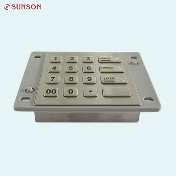 IP65 Stainless Steel Encryption Keypad Pin Pad Device
