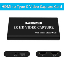 Wiistar USB Video Capture Card HDMI to Type C USB 1080P Video Record HDMI 4K Loopout for PS4 TV Camera Recording Live Streaming