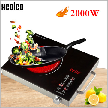 XEOLEO Electric Ceramic Cooker Radiation-free Induction cooker Household cooking stove suitfor any pot Touch screen panel 2000W