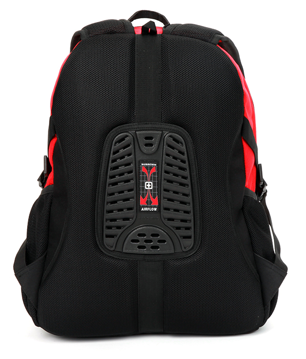 Red Gray And Black Backpack