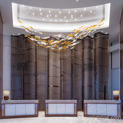 High brightness indoor modern classic custom chandelier