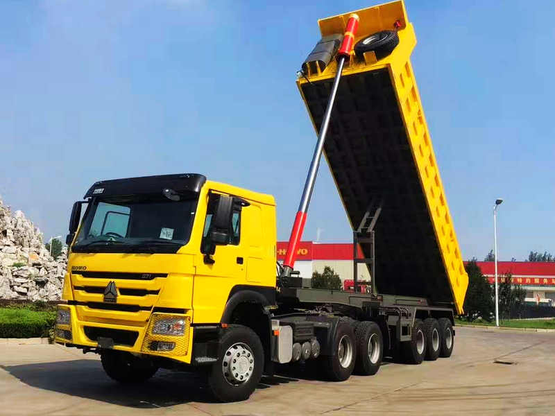 Sinotruk Howo Tactor Truck With Semi Dump Truck To Tanzania
