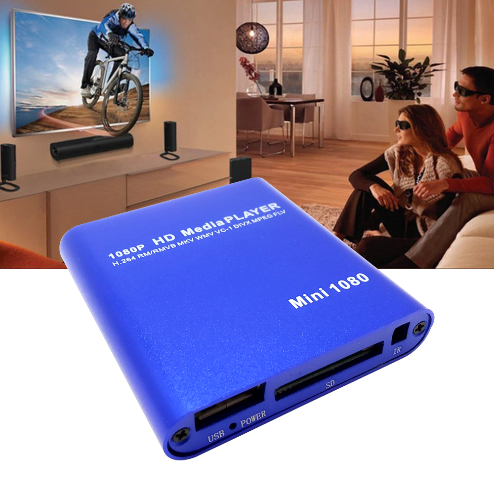 Full HD 1080P HDD Multimedia Player With HDMI-compatible SD Media TV Box USB External Media Player Support MKV H.264 RMVB Player