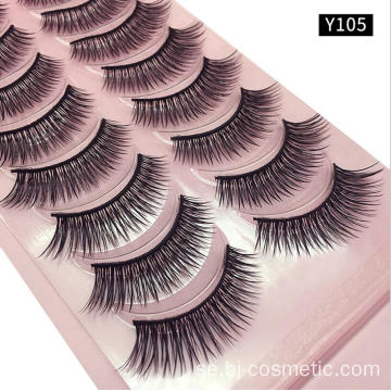 3d Silk Fiber False Eyelashes 10 par