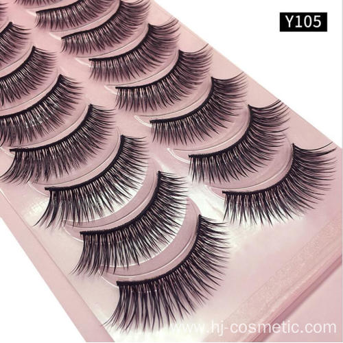 Cheap Faux Mink False lashes Private Label Packaging Fake Eyelash 10 Pairs/box