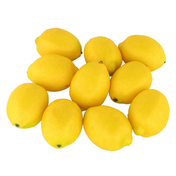 10pcs Foam Artificial Fruits Fake Lemon Shop Decoration Lifelike Simulation Fruit Model Party Home Decoration #YJ