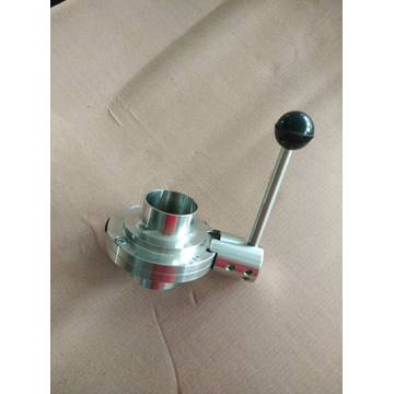 Food Grade Manual Weld Butterfly Valve