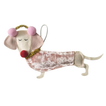 Christmas ornament with 3D cute dog shape