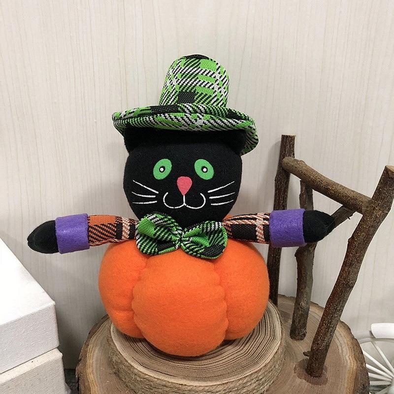 2018 Halloween decoration Cartoon Girl Plush Toys Soft Stuffed Plush Dolls Toy Party Children Gift Pumpkin Witches Elastic