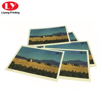 custom scenery postcard printing with your own logo