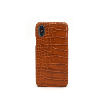 Vintage Crocodile Pattern Genuine Leather Mobile Phone Case