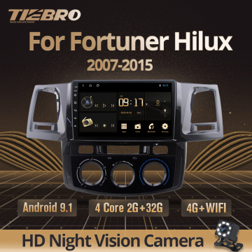 TIEBRO 2Din Android 9.0 Car Radio Player For Toyota Fortuner Hilux 2007 2008 2012 2014 2015 Multimedia Video Gps Navigation DVD