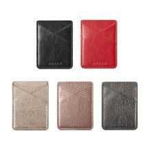 Ultra Slim Leather Mobile Phone ID Card Holder Wallet Credit Pocket Adhesive Sticker