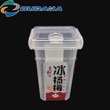 Hot sale 11oz plastic square drink for juice