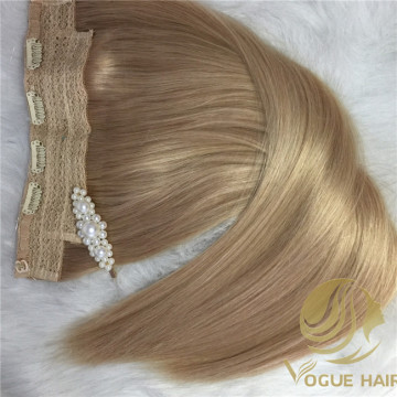 Fast and timely Halo Flip in hair extensions