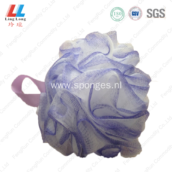 Mixture smooth bath ball mesh pouf sponge
