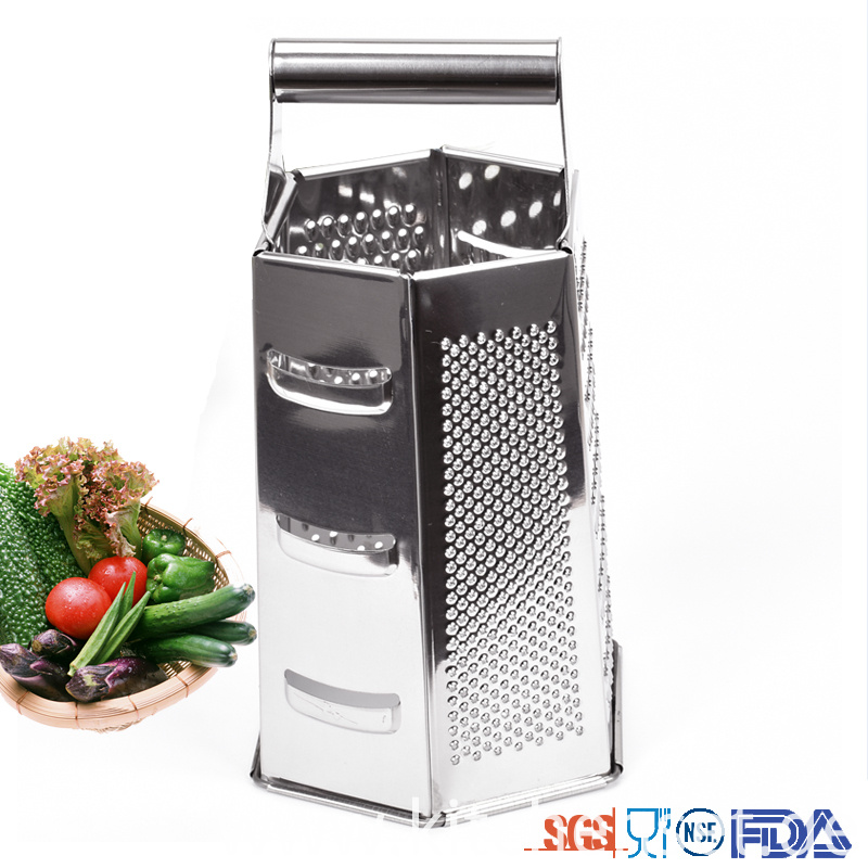 Metal Grips 6 In 1 Kitchen Grater
