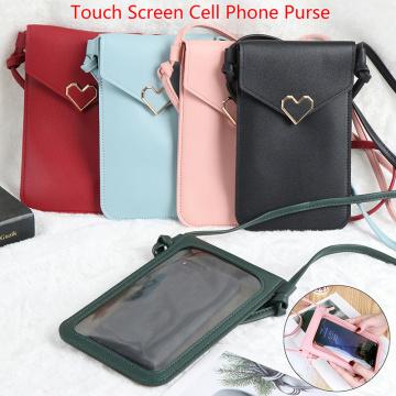 Touch Screen Cell Phone Purse Smartphone Wallet Card Bag Leather Shoulder Strap Handbag Women Bag