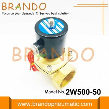 2 Inch Golden Color Solenoid Valve 2W500-50