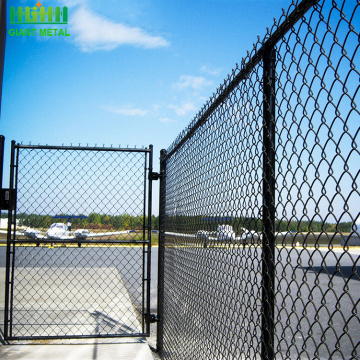 Green welded mesh pvc coated chain link fencing
