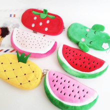 2020 Cute Fruit Pencil Case Stationery Pencil Bag For Boys Girls Cosmetic Bag Cactus Office Supplies