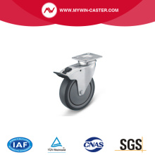 Braked Plate Swivel TPE Institutional Caster