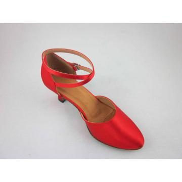 Red ballroom shoes women