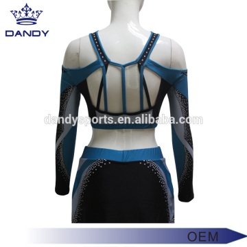 Custom Backless Sublimated Cheerleading Squad Uniforms