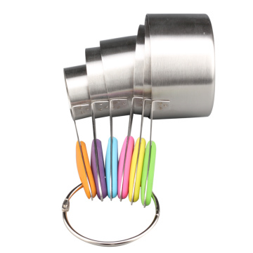 Stainless Steel Measuring Cup With Colorful Silicone Handle