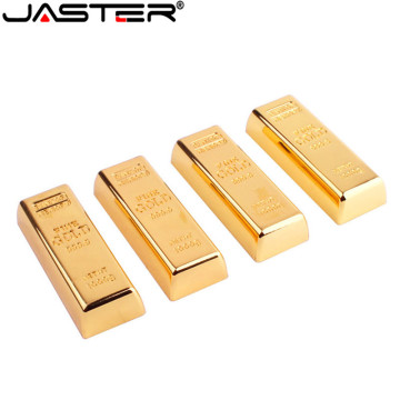JASTER gold bullion usb flash drive Memory stick bar pen 4GB 8GB 16GB 32GB 64GB pen U disk gift
