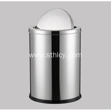 Flip Over The Stainless Steel Trash Can