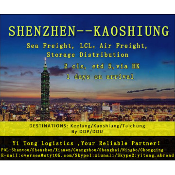 Shenzhen Sea Freight to Kaoshiung