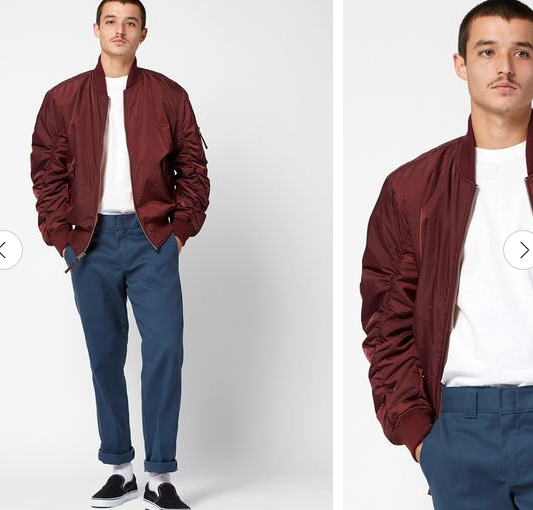 Young Men Polyester Bomber Jacket