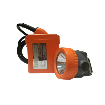 Rechargeable miners hard hat light orange color