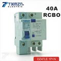DZ47LE 1P+N 40A C type 230V~ 50HZ/60HZ Residual current Circuit breaker with over current and Leakage protection RCBO