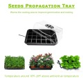 Mga Hydroponic Growing Kit Plastic Seed Nursery Trays