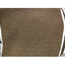 Brown Germetric Ultrasonic Microfiber Fabrics