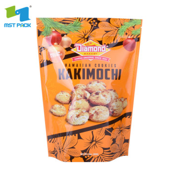 Biodegradable food package cookie stand up pouches