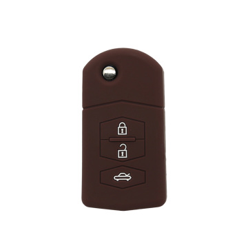 Luxury embossed car key holder for Mazda