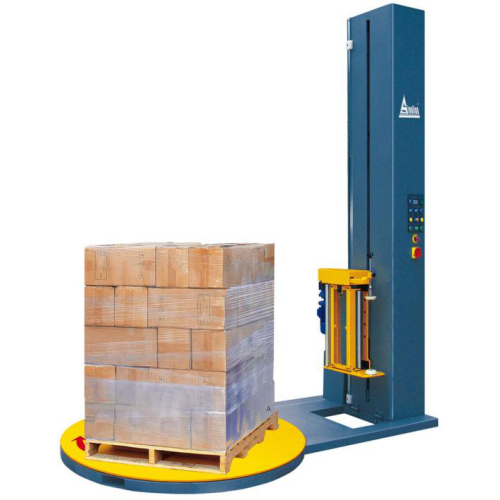 Pallet pre-stretch wrapping machinery