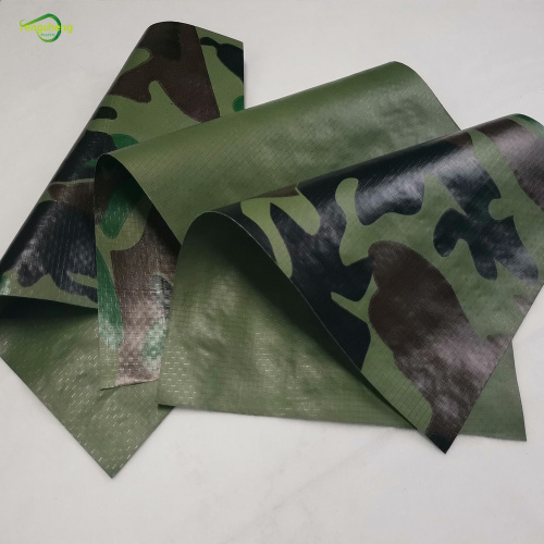 camouflage PE waterproof tarpaulin tunnel cover fabric