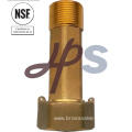 NSF low lead brass water meter coupling /gasket