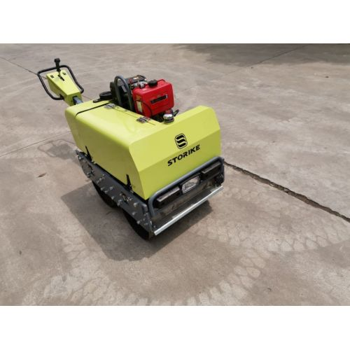Walking behind diesel engine road roller for sale