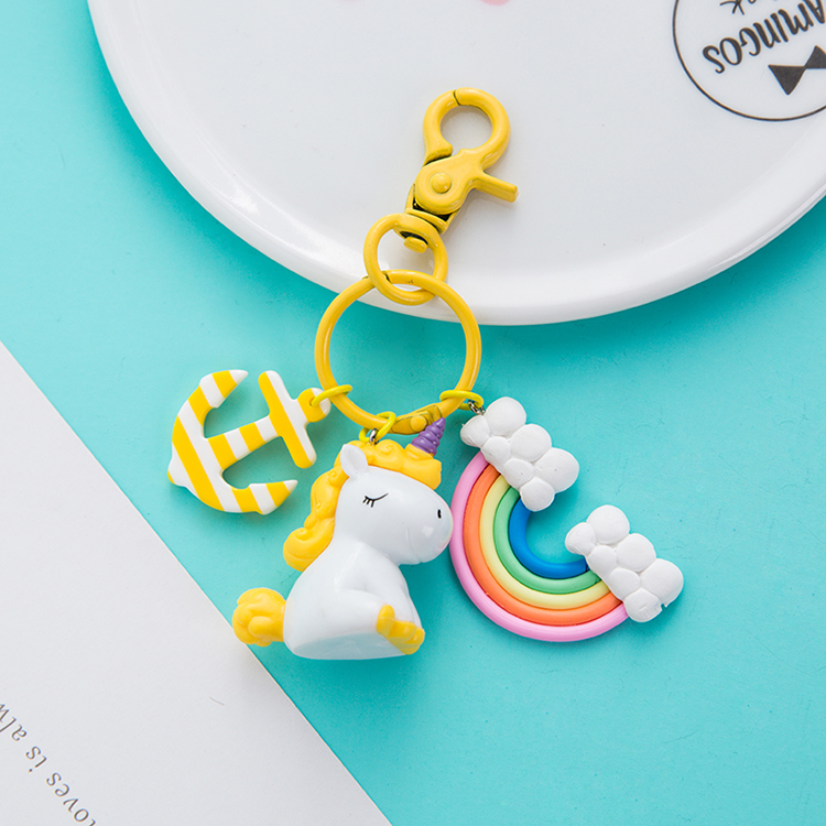Unicorn Rainbow Keychain2