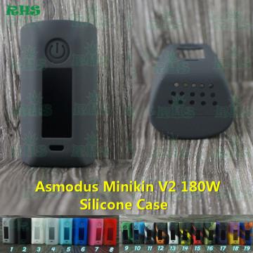 2017 Newest Original silicone case for asmodus Minikin v2 180w Temp cotrol box mod by RHS factory free shipping